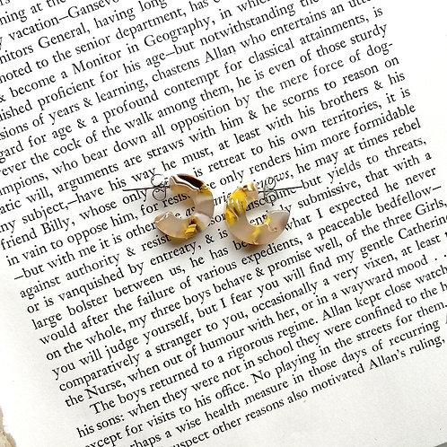Mali Tortoise Earrings in Sunflower