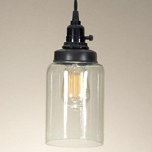 Glass Cylinder Jar Pendant
