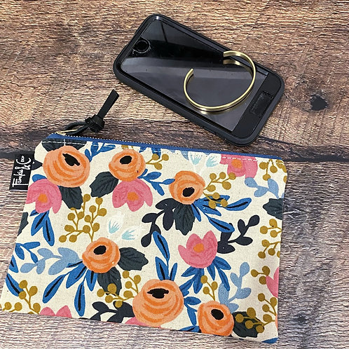 Floral Canvas Pouch Large