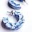 Thumbnail: Ray Tortoise Earrings in Ocean