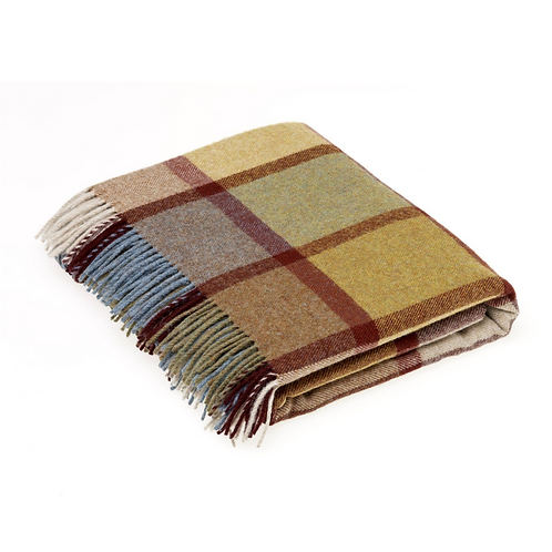 Lambswool Throw Patley Check
