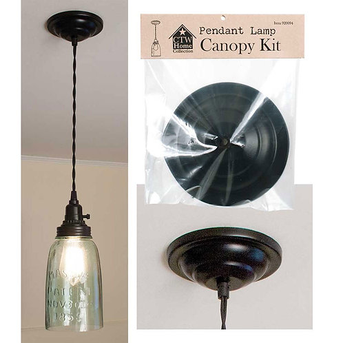 Black Ceiling Canopy Kit