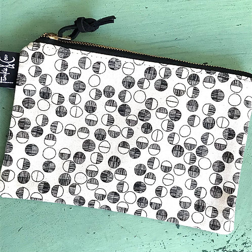 Circles Canvas Pouch Large