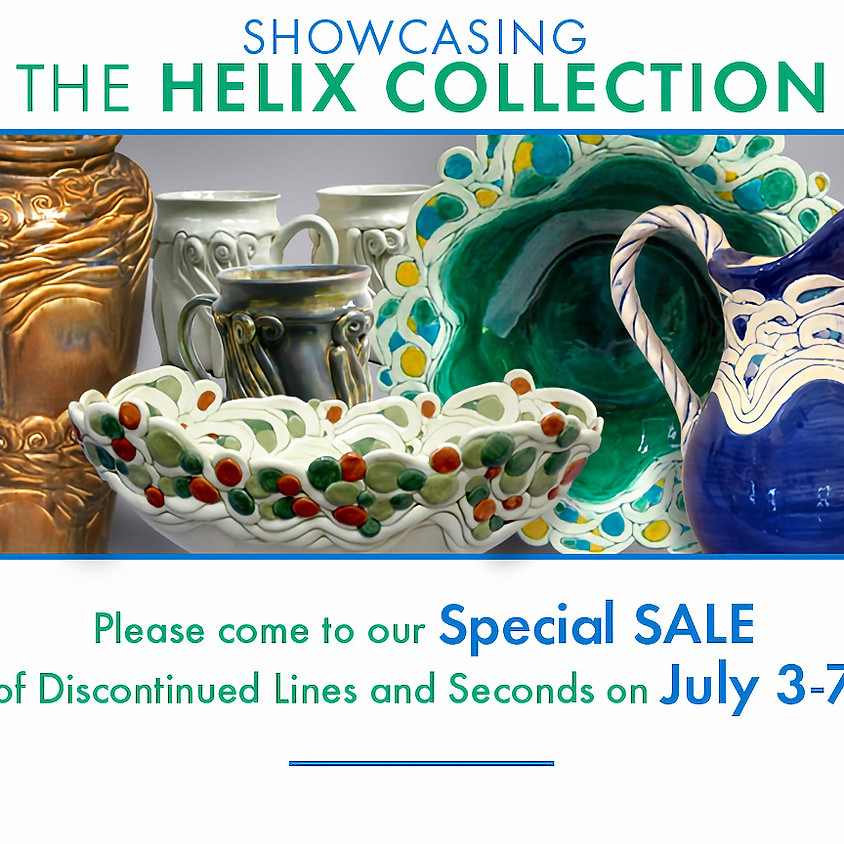 Hoffman Pottery Sale featuring the Helix Collection
