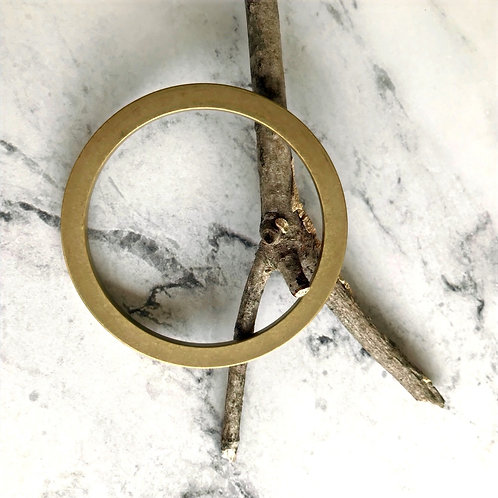 Brass Bangle Bracelet - Flat