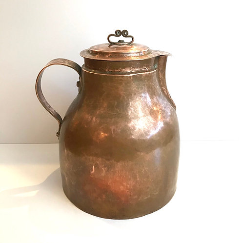 Vintage Copper Pitcher with Lid