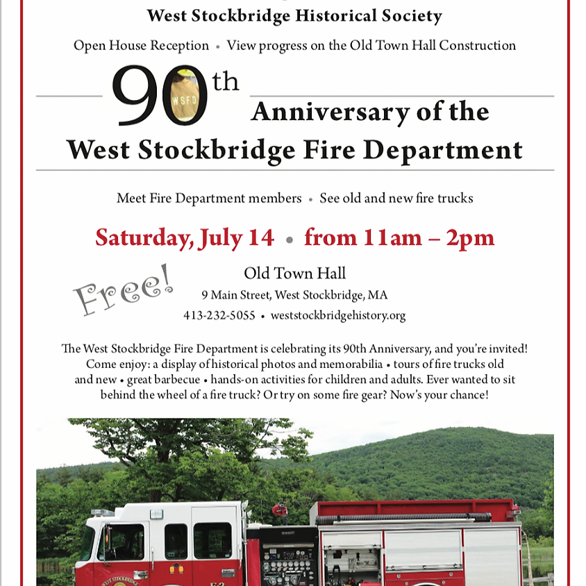 90th Anniversary of the West Stockbridge Fire Department