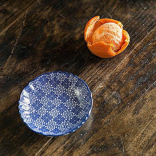 Blue + White Small Geometric Dish