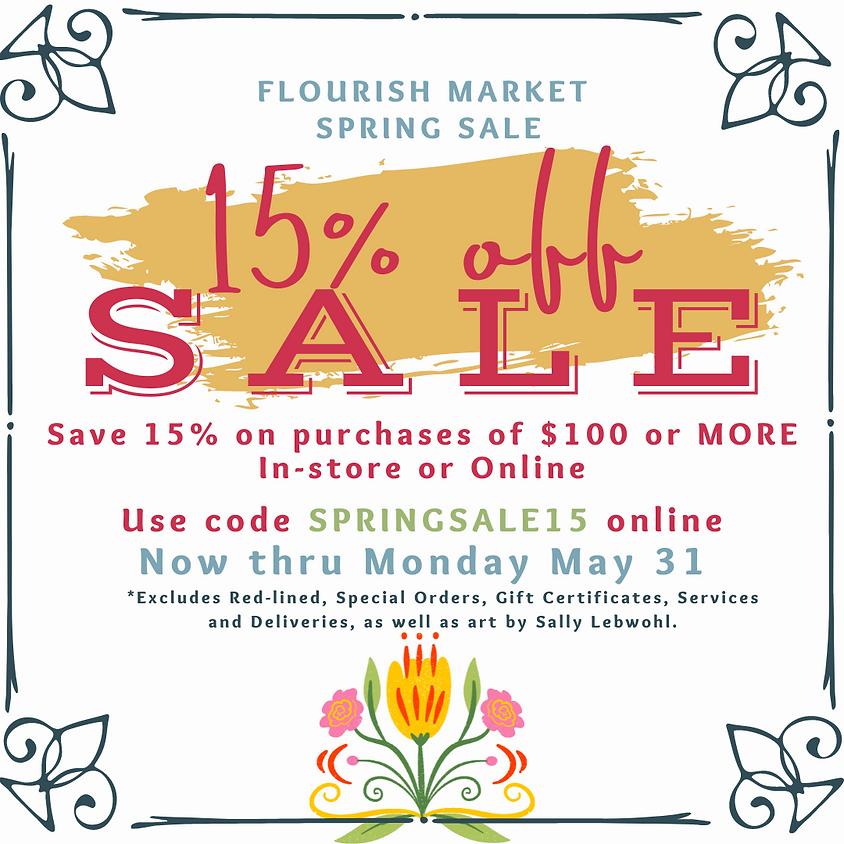 Spring Sale at Flourish Market