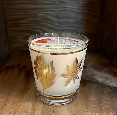 Mid-Century Gold Leaves Oakmoss + Amber Soy Candle