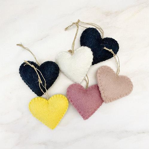 Felt Wool Heart Ornament
