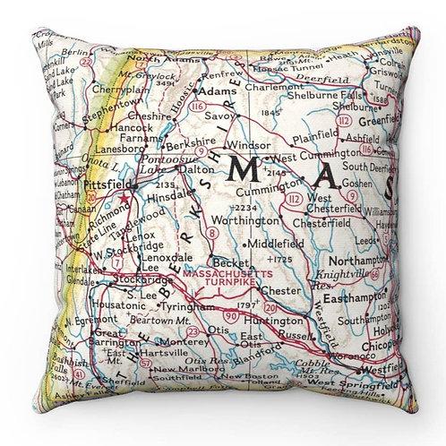 Berkshires Map Pillow