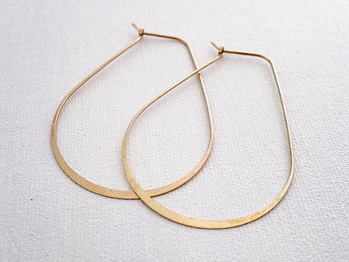 Brass Large Pear Earrings