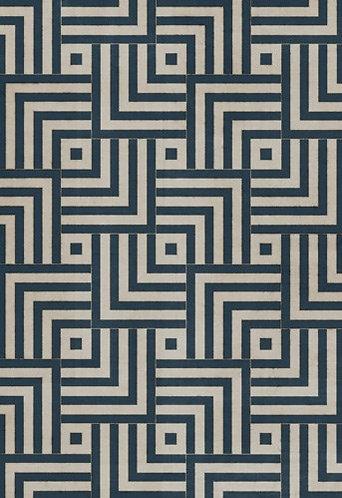 Vintage Vinyl Floorcloth - Pattern 60 Aftereffect - 38x56