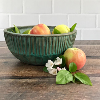 Stoneware Bowl and Apples