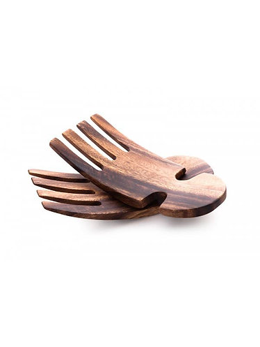 Acacia Wood Salad Hands Servers