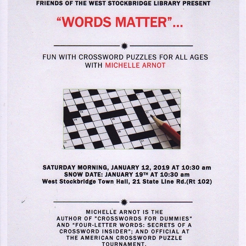 """""""Words Matter""""... Fun with Crossword Puzzles"""
