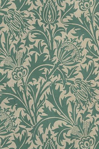Vintage Vinyl Floorcloth - Morris Thistle - 20x30