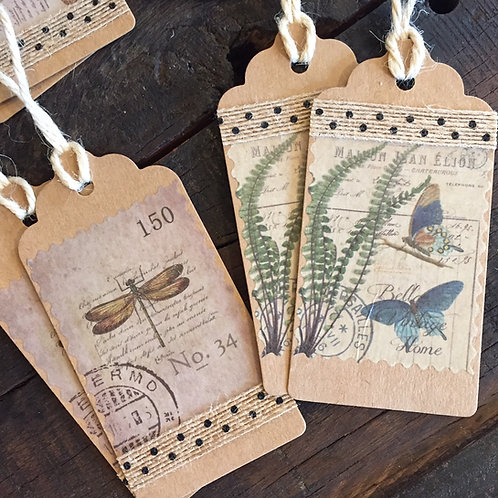 Birds + Bees Gift Tags Set/12