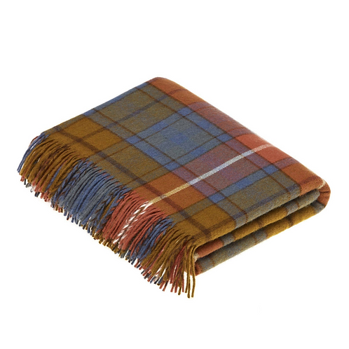 Lambswool Throw Antique Buchanan Tartan