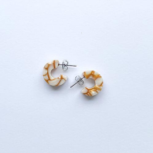 Mali Tortoise Earrings in Dandelion