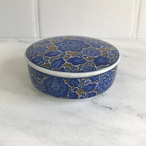 Ceramic Blue Floral Box