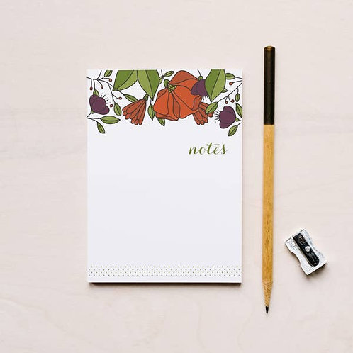 Red Flowers Notepad
