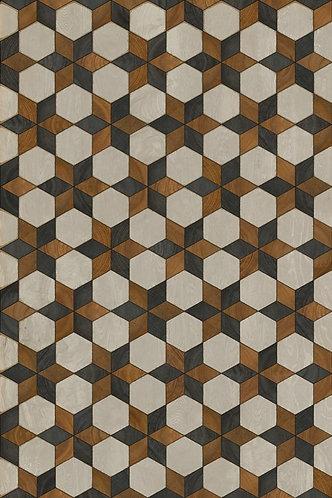 Vintage Vinyl Floorcloth - Artisanry Illuminated Neutron Star - 20x30