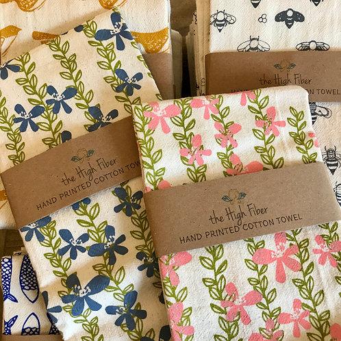 Floral Vine Tea Towel
