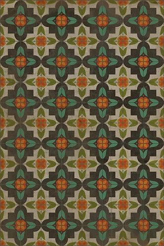 Vintage Vinyl Floorcloth - Pattern 33 Anna's Garden - 20x30
