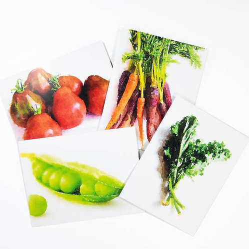 Watercolor Vegetable Note Cards