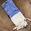 Turkish Hand Towel Cobalt Herringbone