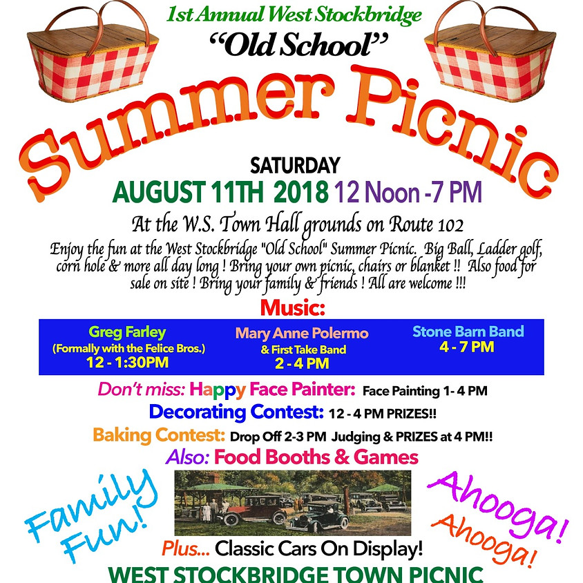 """1st Annual """"Old School"""" Summer Picnic"""