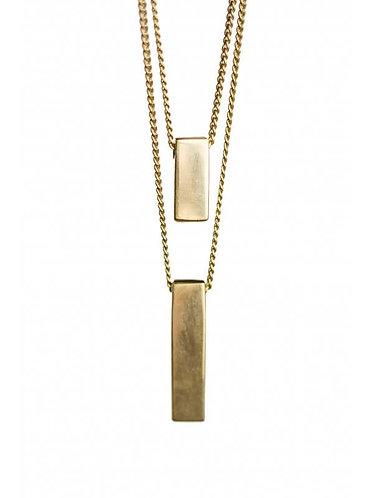 Brass Bar Pendants Necklace