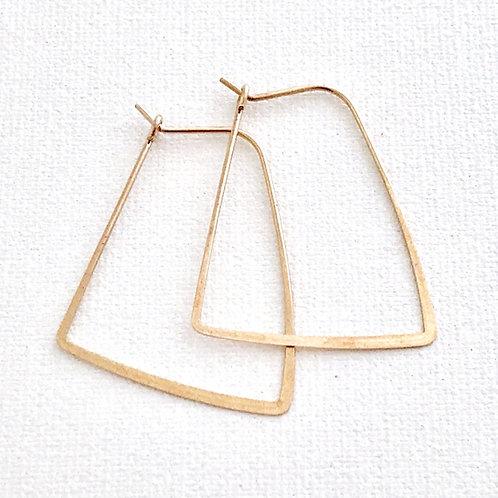 Brass Trapezoid Earrings