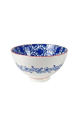 Blue + White Arabesque Rice Bowl