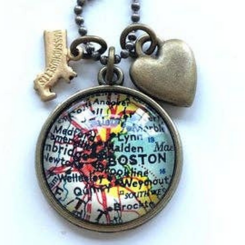Boston Map Necklace