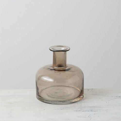 Bubble Glass Vase - Brown