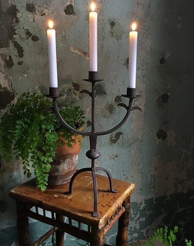 Iron Rusted Candleabra