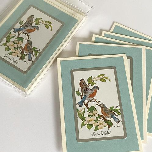 Blue Bird Note Cards Set/6