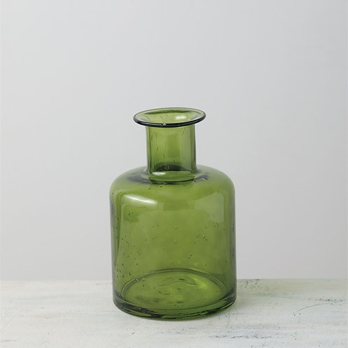 Bubble Glass Vase - Green
