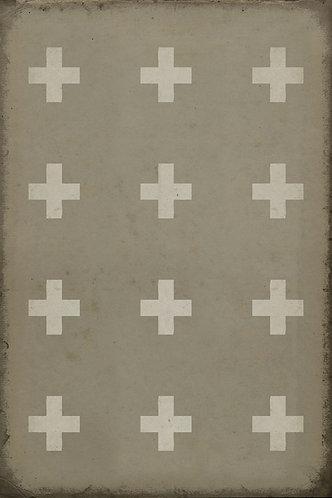 Vintage Vinyl Floorcloth - Pattern 24 Kalamos - 20x30