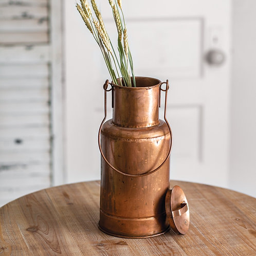 Copper Storage Container with Lid