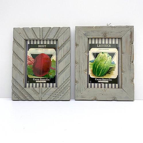 Framed Vintage Seed Packet Pair