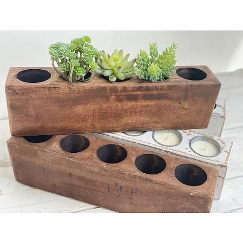 Wooden Sugar Mold with 5 Holes