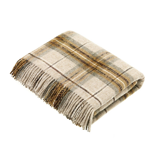 Lambswool Throw National Trust - Gold + Brown