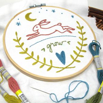 Grow Rabbit Embroidery Kit