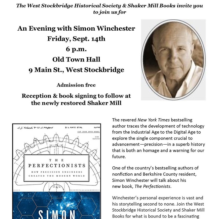 An Evening with Simon Winchester