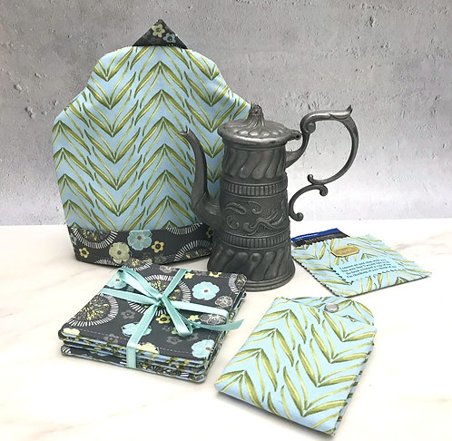Tea Wallet, Cozy, Teapot + Coaster Set