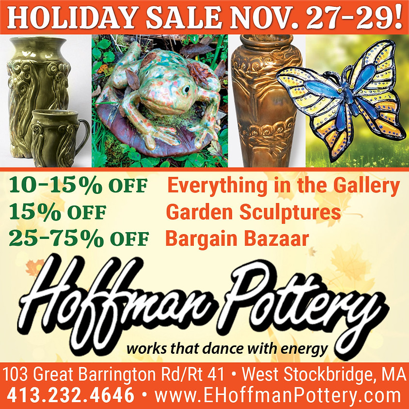 Hoffman Pottery Thanksgiving Sale